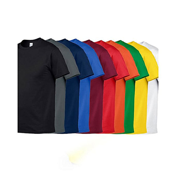 Bundle Of 10 : Plain Multicolor T-shirt For Men