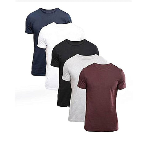 Multicolor Plain T-Shirts availavle at buysense.pk