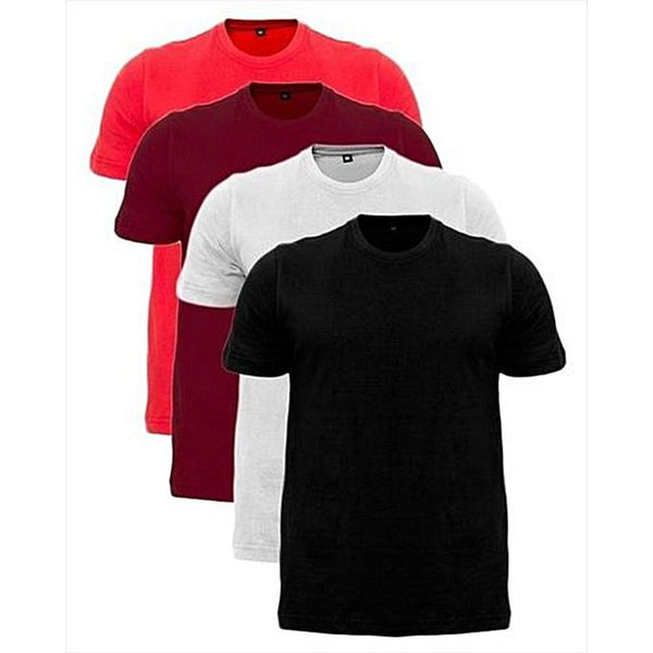 Pack Of 4 - Multicolor Cotton T-Shirt For Men