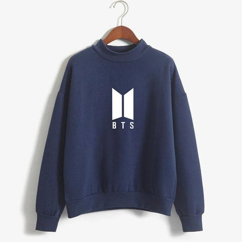 Navy Blue BTS Printed Sweatshirt
