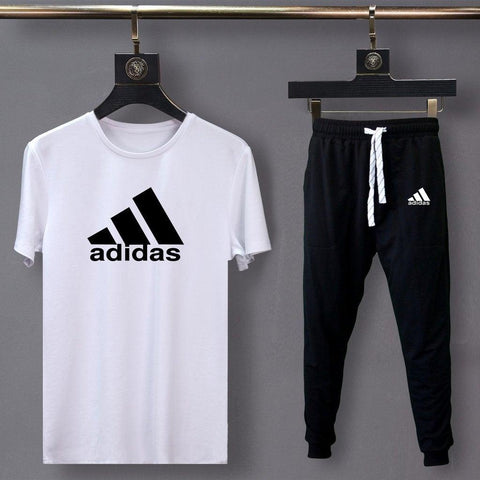 Adidas Black and White Summer Tracksuit