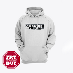Hazel Grey Strange Things Printed Kagroo Hoodie