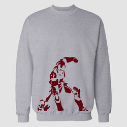 Hazel Grey Iron Man Printed Sweatshirt