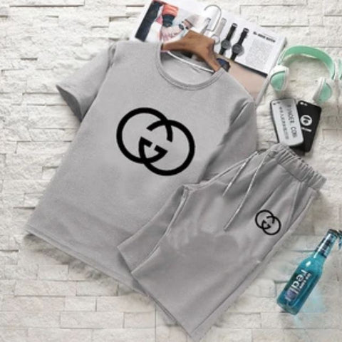 GUCCI Hazel grey Summer Hazel grey T-Shirt and Short Set