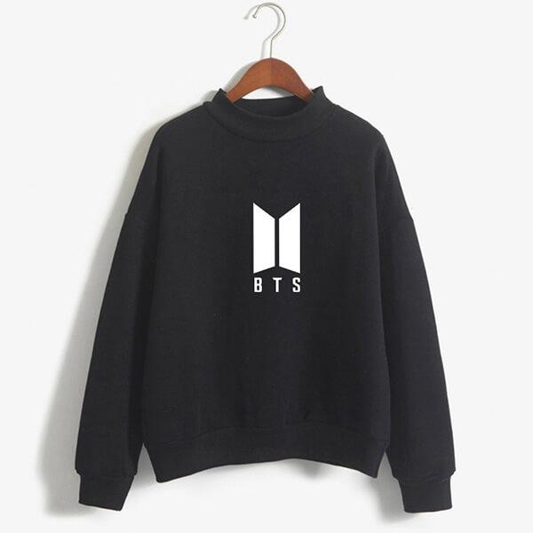Black BTS Printed Sweatshirt