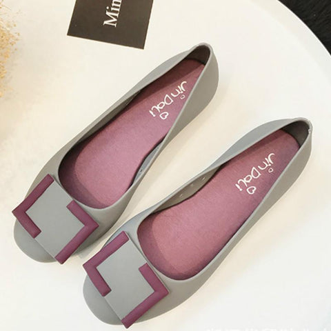 Women Flat Rubber Jelly Shoes