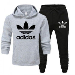 Adidas Hazel Grey and Black Tracksuit