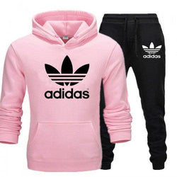 Adidas Baby Pink and Black Tracksuit