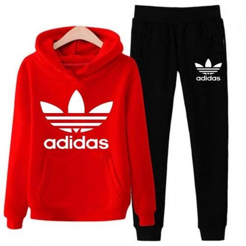 Adidas Red and Black Tracksuit