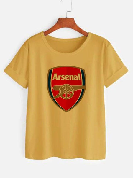 Arsenal FC Printed Yellow T-shirt