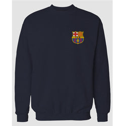 Navy Blue Barcelona Printed Sweatshirt