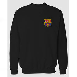 Black Barcelona Printed Sweatshirt