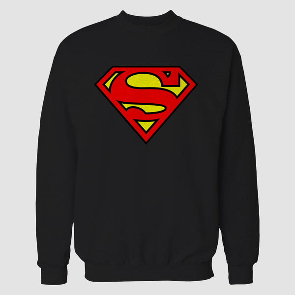 Black Superman Printed Sweatshirt