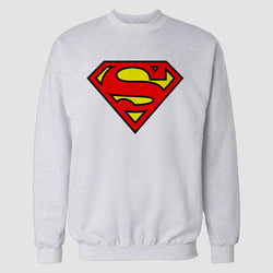 White Superman Printed Sweatshirt