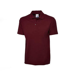 Maroon Cotton Polo Half Sleeves T-Shirt For Men