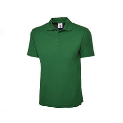 Hunter Green Cotton Polo Half Sleeves T-Shirt For Men