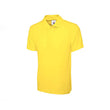 Yellow Cotton Polo Half Sleeves T-Shirt For Men