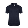 Navy Blue Cotton Polo Half Sleeves T-Shirt For Men