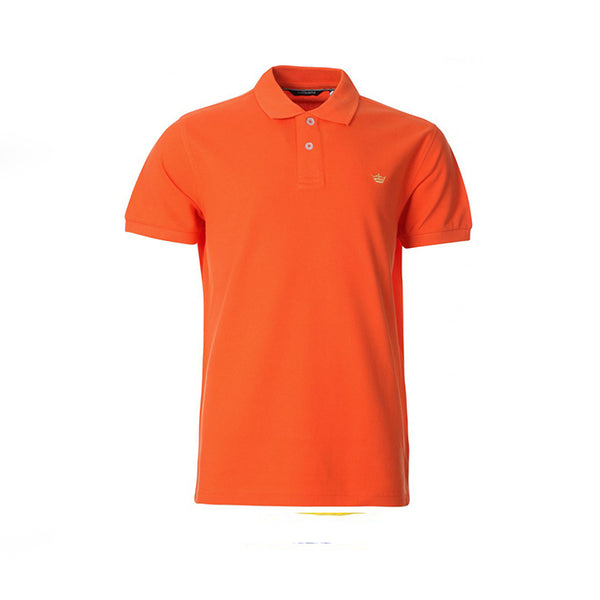 Orange Cotton Polo Half Sleeves T-Shirt For Men