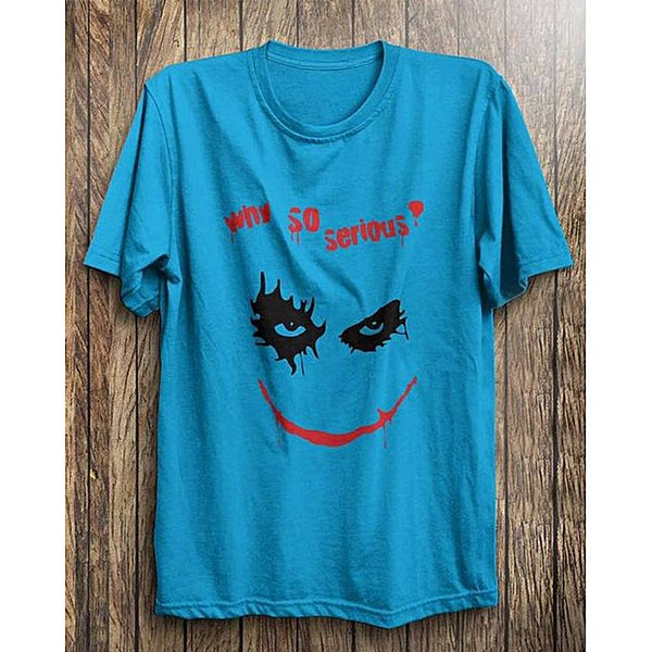 Blue Why So Serious Printed Tshirt For Men