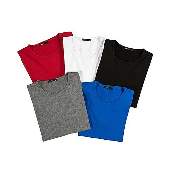 Multicolour Cotton Round Neck Half sleeves T-Shirt