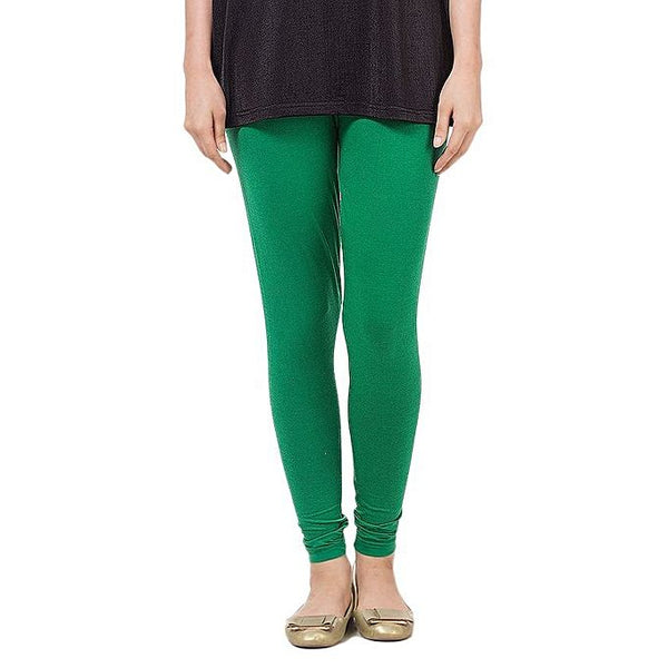 Dark Green Cotton Tights For Women