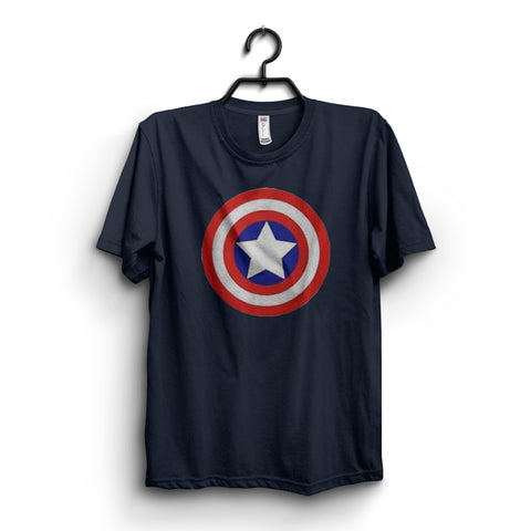 Navy Blue Captain america T shirt - Avengers End Game