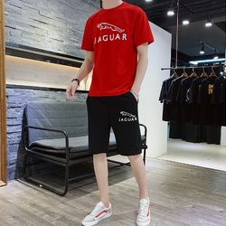 Jaguar Red and Black Summer Red T-Shirt and Short Set