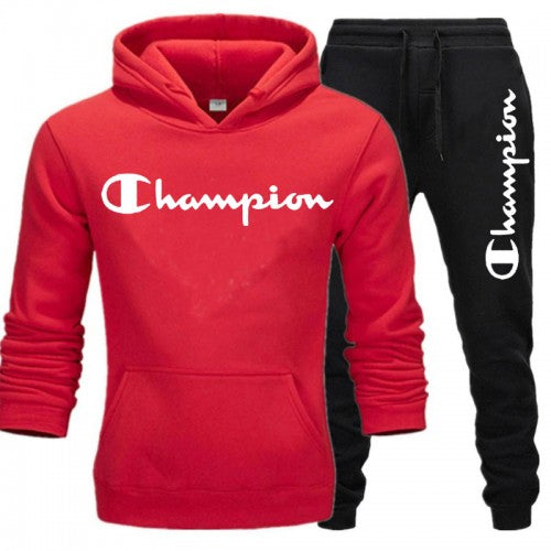 Champion Red And Black Tracksuit