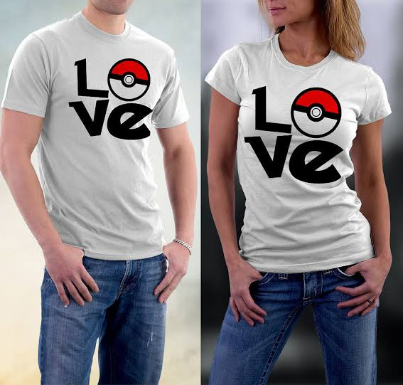 Love Printed White T-shirt For Couples