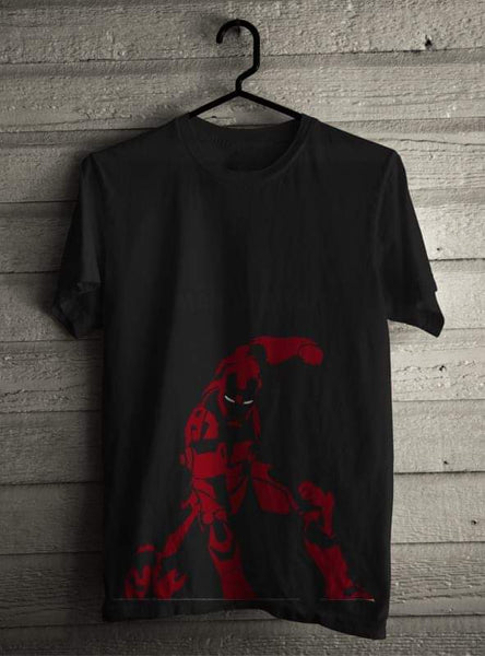 Iron Man Printed Black T-shirt