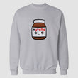 Hazel Grey Nutella Printed Sweatshirt