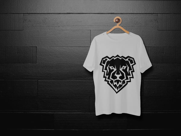 Lion Printed White T-shirt