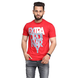 Red Extraordinary Printed T-shirt For Men