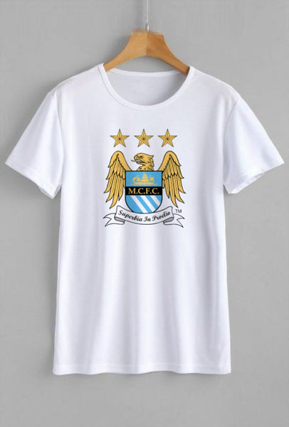 Manchester City Printed White T-shirt