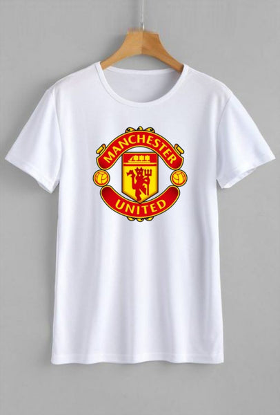 Manchester United Printed White T-shirt