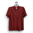 Maroon Cotton Half Sleeves Tshirt For Men