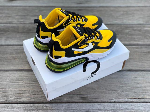 Nike React 270 Shoes Yellow and Black