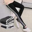 Pack of 4 stripped trouser pants for women