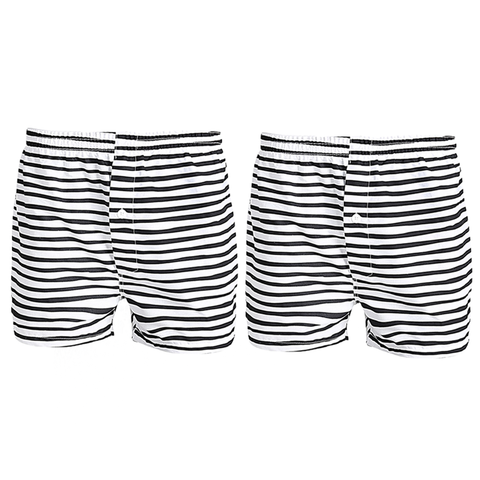 Pack of 2:Stripes Cotton Comfrotable Boxers For Men