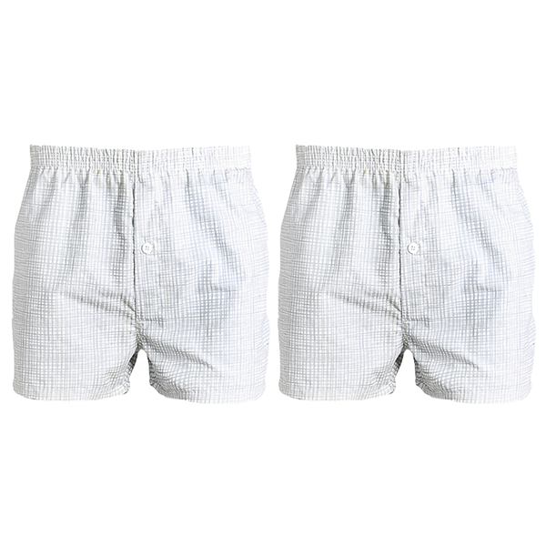 Pack of 2:Checkered Cotton Comfrotable Boxers For Men