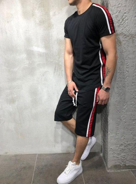 Striped Shorts Summer Tracksuit For Mens