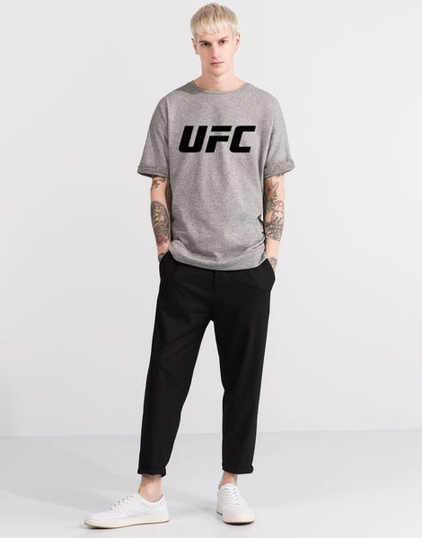 UFC Printed Hazel Grey T-shirt