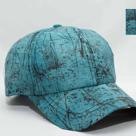 sea green printed caps