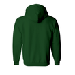 Hunter Green Plain Zipper Hoodie