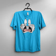 Blue Cotton Bugs Bunny Printed Tshirt For Women