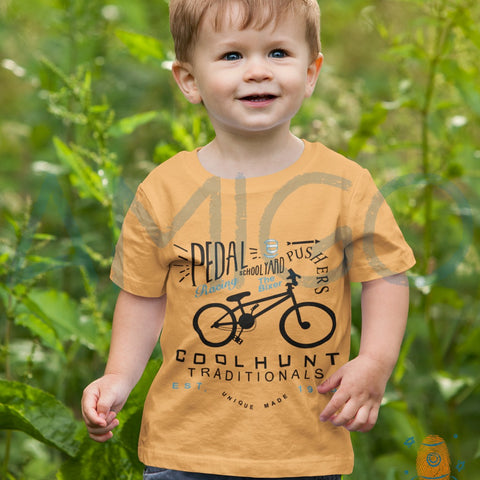 Mustard Yellow Pedal Cool Hunt T-shirt