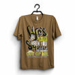 "Khaki Brown  ""Life is better with creativity"" T-Shirt"