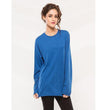 Blue Cotton Full Sleeves Tshirt For Women