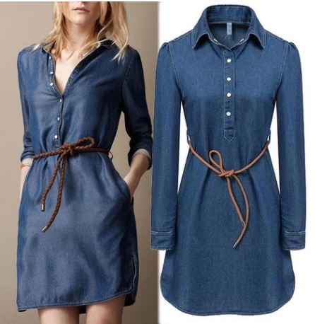 Women's Denim Long Stylish Coat
